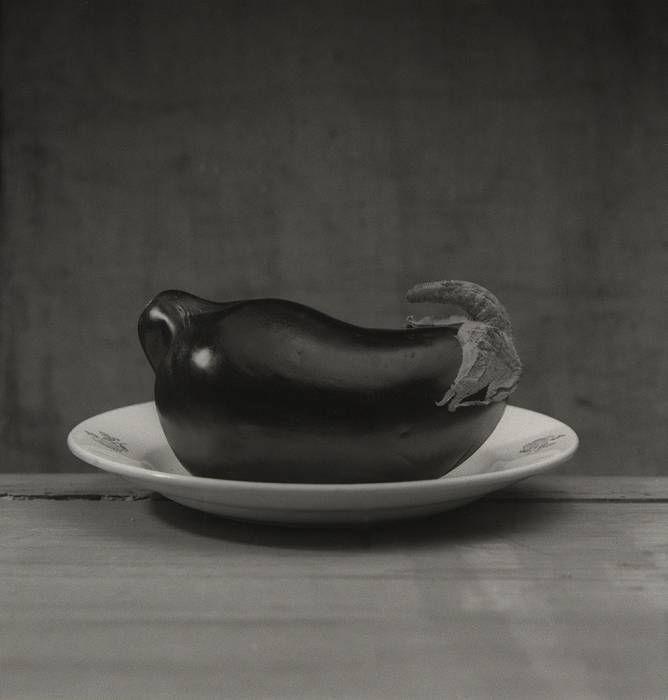 Aubergine dans assiette