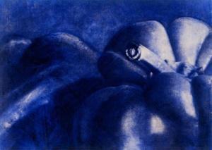 Poivron queue, bleu  (1995)