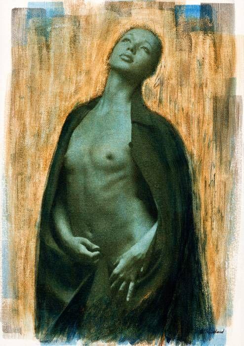 Nu debout, bleu, 1990