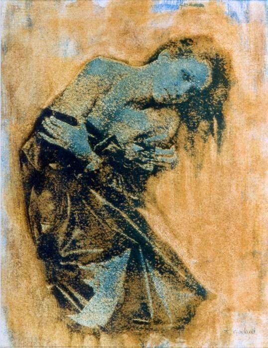 Nu à l'imperméable, bleu, 1990