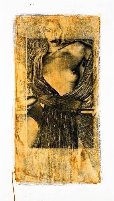Nu debout I, ocre, 2000
