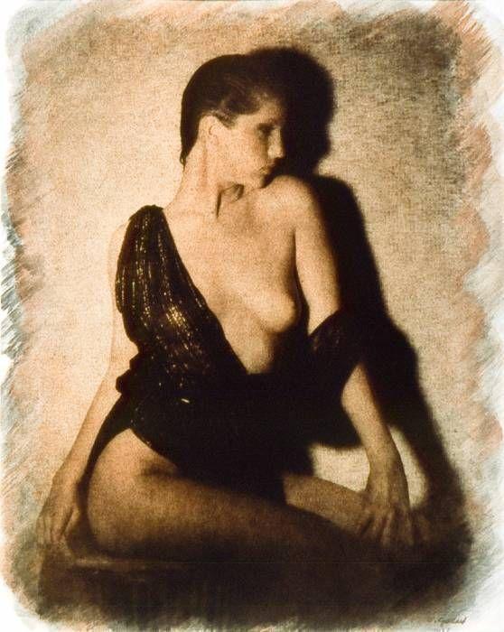 Nu assis tabouret, 1989