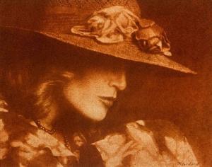 Portrait au chapeau, rouille, 1987
