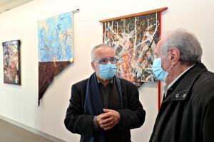 salle R.Kraus : R.Kraus (gauche)  et J.Godard (droite)
