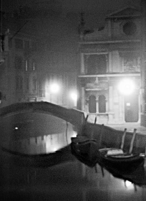 Pont aux 2 barques, noir